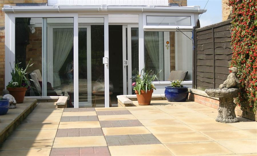 White uPVC Lean to Conservatory chelmsford