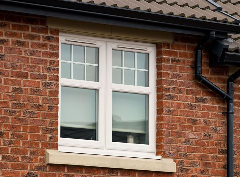 white uPVC window newbury